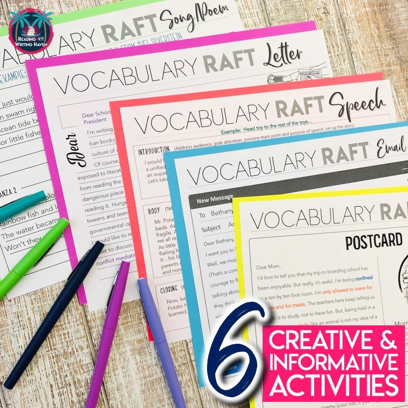 Vocabulary in writing - engaging activities for middle and high school #Vocabulary #MiddleSchoolELA #HighSchoolELA