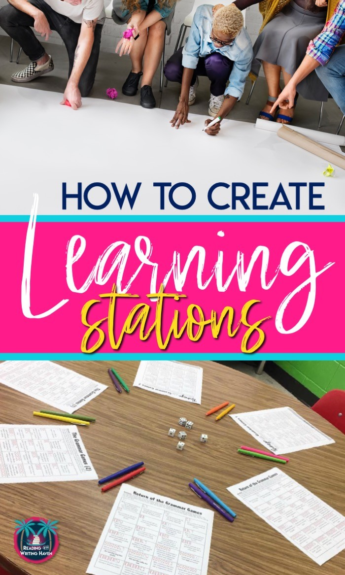 Tips for how to create learning stations for older students #LearningStations #MovementintheClassroom #MiddleSchoolELA #HighSchoolELA
