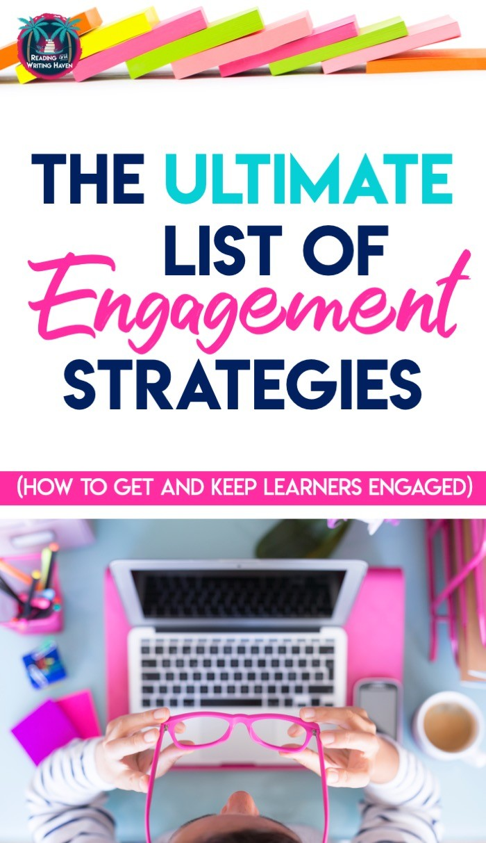 The ultimate list of engagement strategies for middle and high school students #EngagingELA #HighSchoolELA #MiddleSchoolELA #ActiveLearning