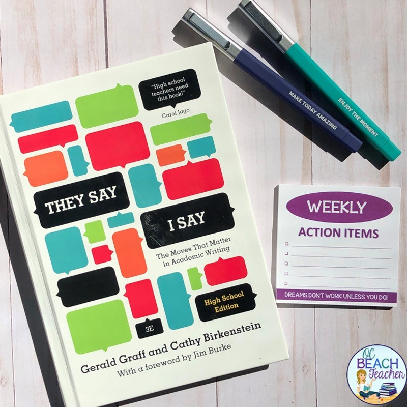 Best ELA PD Books: They Say I Say