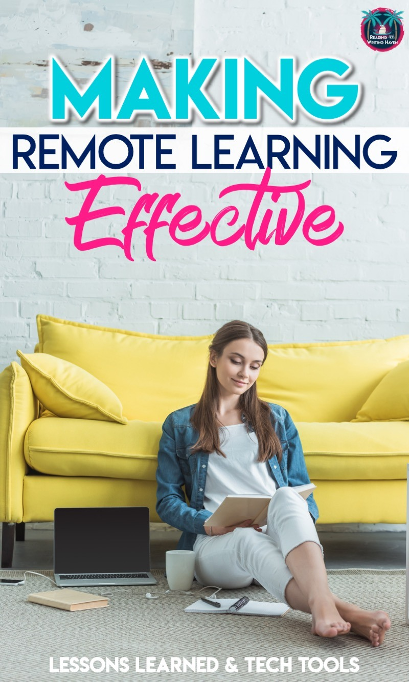 Make remote learning beneficial for students! Try these tips and tech tools with middle and high school classes. #OnlineLearning #DistanceLearning #MiddleSchool #HighSchool