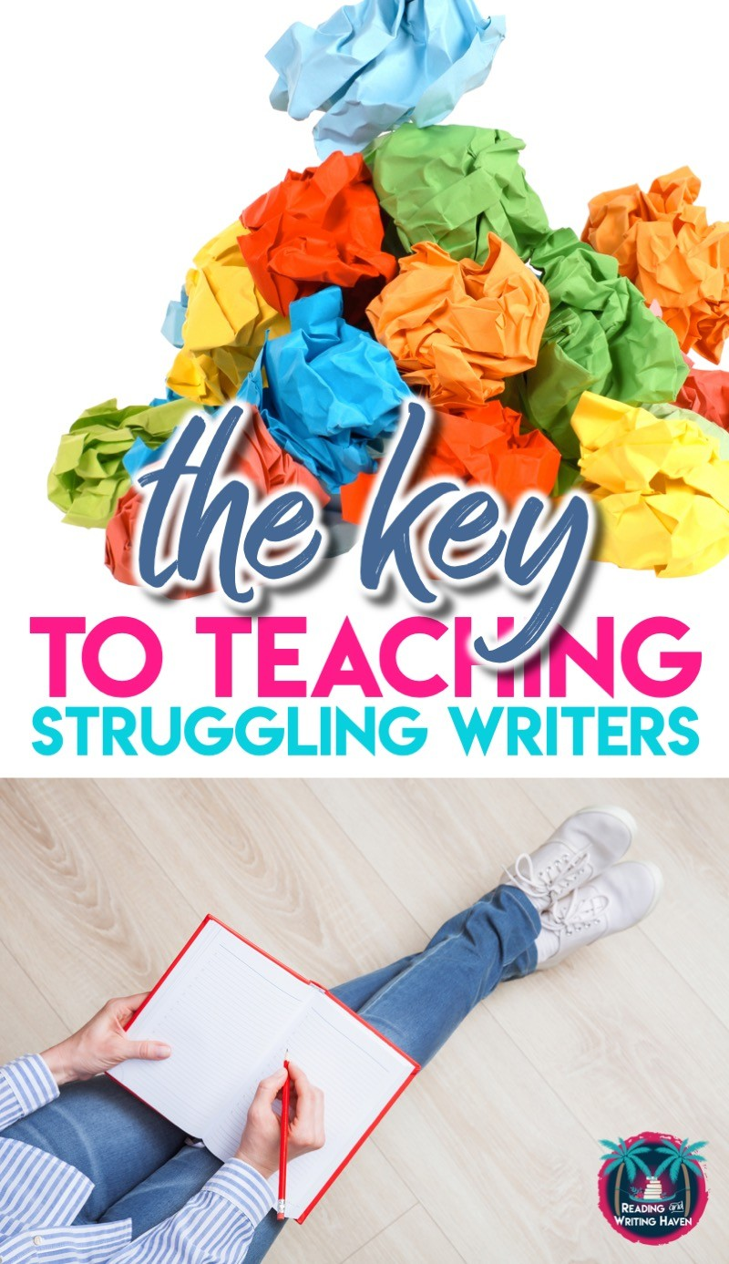 Read about the number one key to supporting struggling writers in middle and high school #TeachingWriting #MiddleSchoolELA #HighSchoolELA