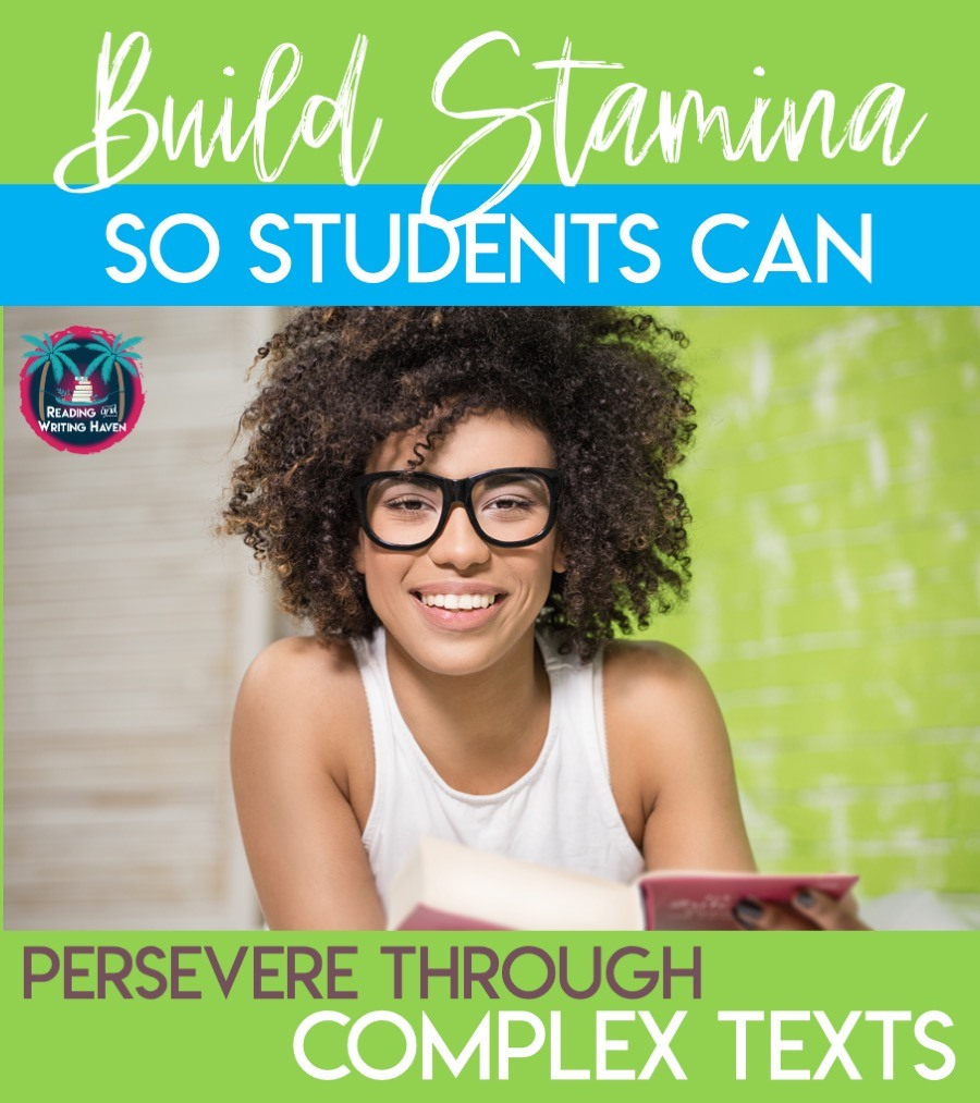 Build stamina so that students an persevere through complex texts #MiddleSchoolELA #HighSchoolELA #TeachingNovels