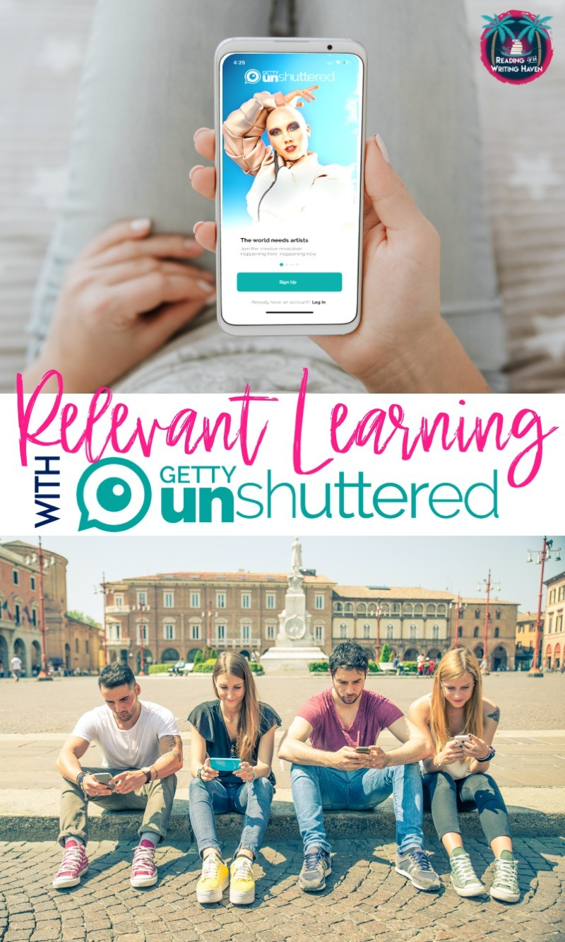 8 ways to make learning relevant using Getty Unshuttered #EngagingELA #RelevantLessons #TechTools