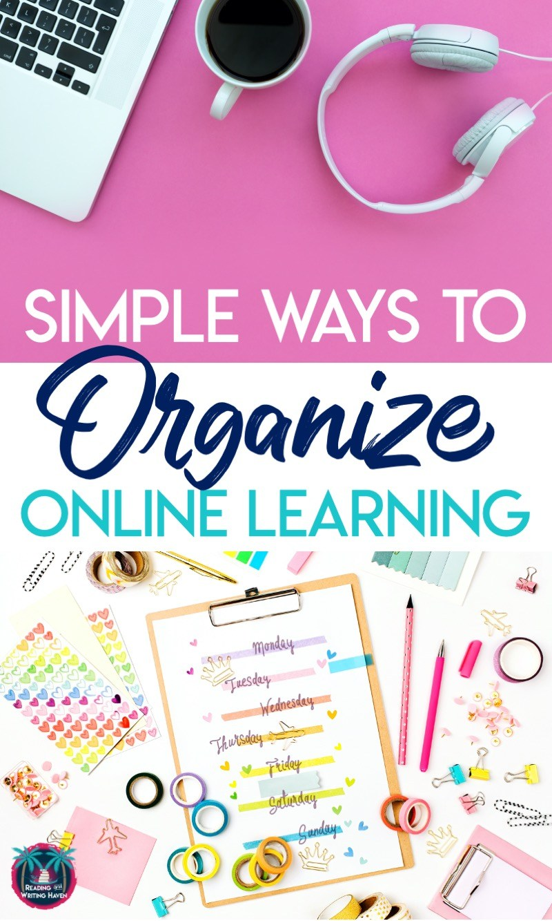 Organize online learning for students to reduce frustration and improve efficiency #ClassroomOrganization #DistanceLearning #ELATeacher
