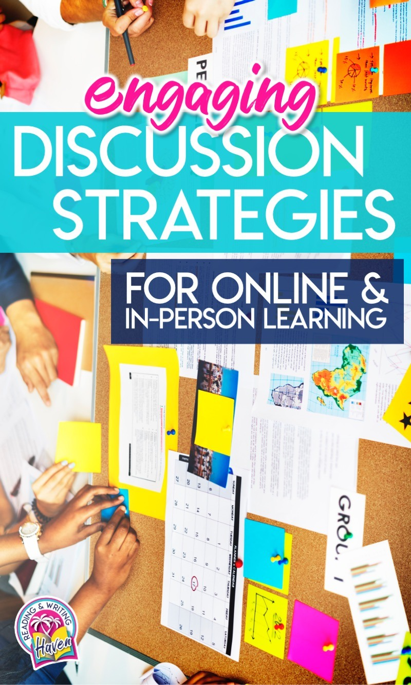 Online discussion strategies for middle and high school #VirtualClassroom #DiscussionStrategies #SecondaryELA