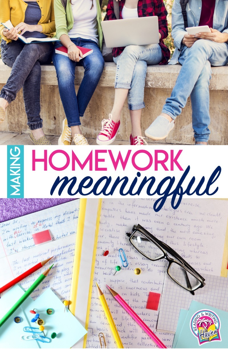 Meaningful homework considerations for middle and high school #MeaningfulHomework #MiddleSchool #HighSchool