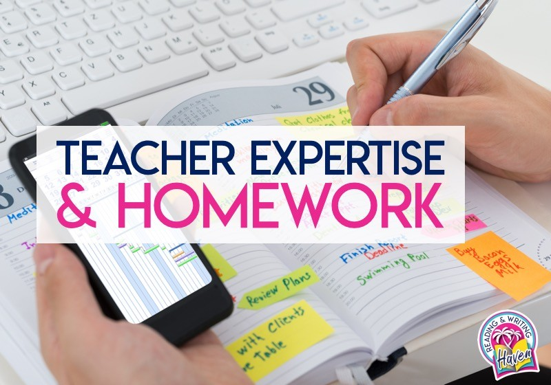 Teachers are experts in their field. Teacher expertise plays a role in good instruction, which impacts homework quality. #Homework #SecondaryELA