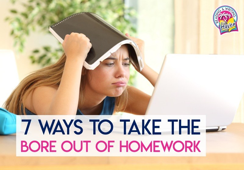 7 ways to take the bore out of homework for students #Homework #MiddleSchool #HighSchool